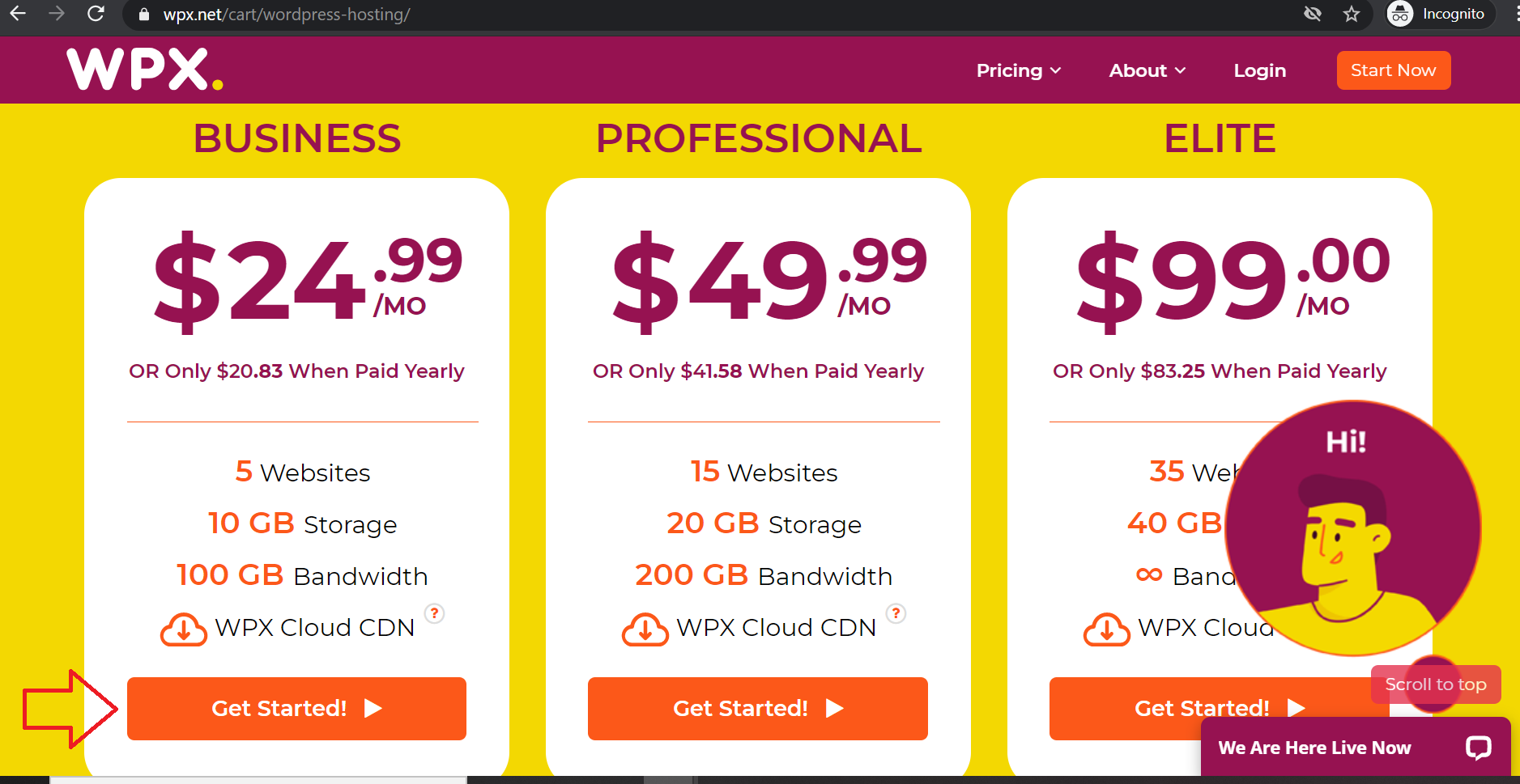 select package how to set up your WordPress website